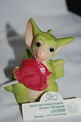 RETIRED 1997 Whimsical World of Pocket Dragon LOLLIPOP - NO BOX
