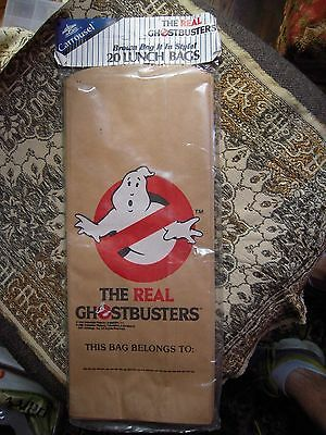 1984 Vintage Ghostbusters paper bags lot of 20 NOS 80s advertising Movie SEALED