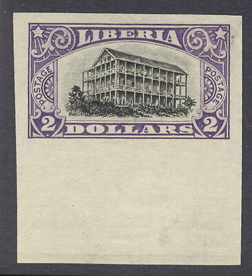 Liberia 1918, $2.00 Presidential Mansion, IMPERFORATE #174
