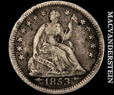 1853 Seated Liberty Half Dime- Very Fine !! Better Date !! #p2213