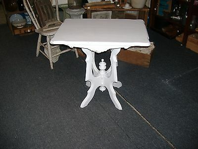 Victorian East Lake Table Stand End Parlor Occasional White Painted