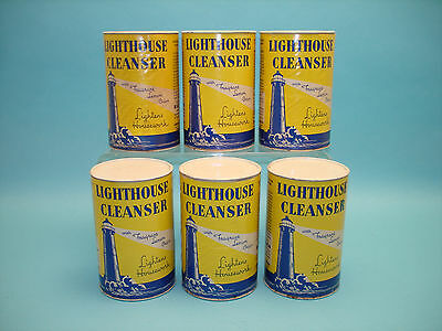 6 Vintage Cans of Lighthouse Cleanser 14 Ounce Armour and Company