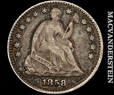 1858 Seated Liberty Half Dime- Scarce !! Better Date !! #p2217