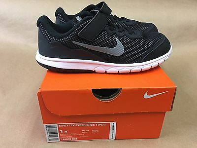 NEW Nike Flex Experience 4 GS 749809-001 Black Grey White Kids/Youth Shoes