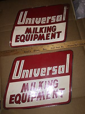 Universal Milking Equipment Old Vintage Dairy Farm Large Chrome Decal Sticker