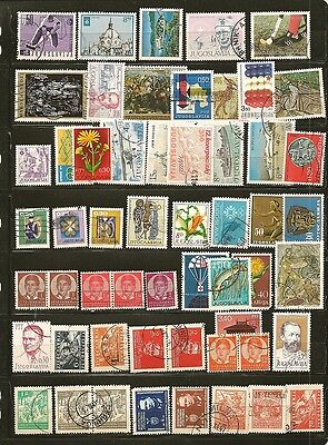 Yugoslavia 50 Old Used Stamps