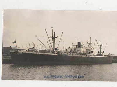 SS Pacific Importer Plain Back Photo Card Shipping 101a