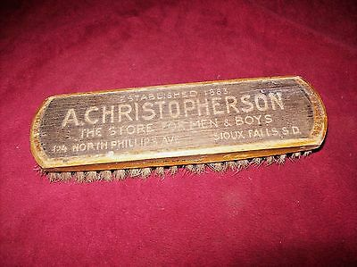 Vintage Advertising Clothes Brush, Christopherson Men's Wear in Sioux Falls, SD.