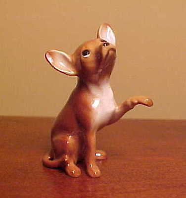"Hagen-Renaker Mini #1019 LARGE CHIHUAHUA ""BROWN"" Miniature Ceramic Dog Figurine"