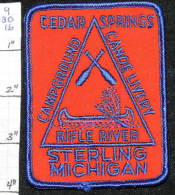 Michigan, Sterling, Cedar Springs Campground Canoe Rifle River Patch