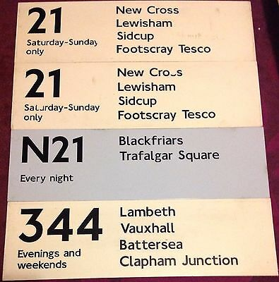 London Transport Bus Stop Interchange Route Signs X4