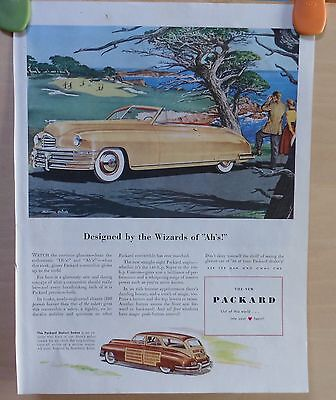 """1948 magazine ad for Packard - convertible Designed by Wizard of """"Ah's"""", Brindle"""