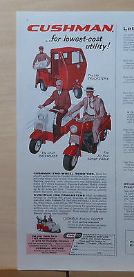 1959 magazine ad for Cushman Scooters - Pacemaker, Super Eagle, Truckster