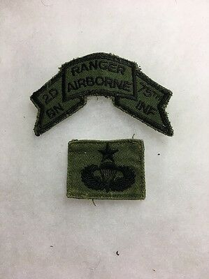 US Army 75th Infantry Ranger Tab And Master Jump Wings