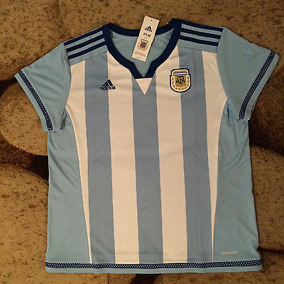 Womens Argentina Adidas Climacool Home Soccer Jersey Size Large NWT MSRP $75.00