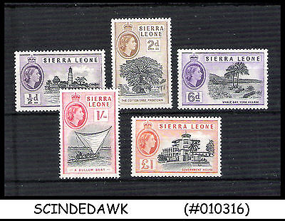 Sierra Leone - 1956 Selected Stamps Of Qeii - 5V - Mint Nh