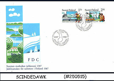 FINLAND - 1987 100yrs OF FINNISH TOURIST OFFICE - 2V - FDC