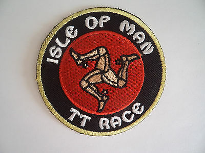 Isle Of Man Embroidered Patch Sew On / Iron On Cloth Patches TT Race Motor Cycle