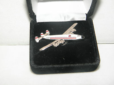 Collectable Twa Constellation Airplane Lapel Tac Pin Pilot / F/a Christmas Gift