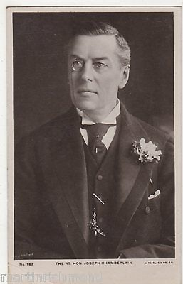 The Right Hon. Joseph Chamberlain 1914 RP Postcard, B535