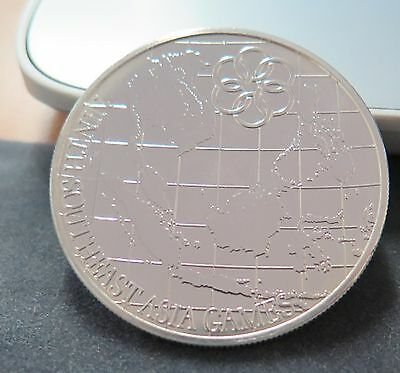 1977 Malaysia 25 Ringgit Silver Games Coin