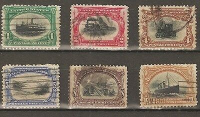 us old stamps 1901 pan-american expo full set used - useful range used to filler