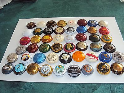 Lot 50 Capsules Champagne Differentes