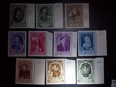 Beaux Lot Timbres Belge Neuf Voir Photo