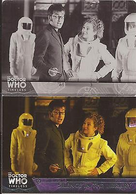"""Doctor Who Timeless: Base Card #63 """"Silence In Library"""" Black Printing Plate 1/1"""