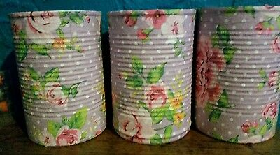 Vintage / Shabby Chic Decoupaged Tins- Cutlery/Pens/Make up Brushes Holders