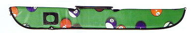 1 Hand Carry  Soft  Billiards Pool Cue Bag , Colorful , Green Color - New
