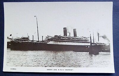 Steam Ship Orient Line R.M.S. Oronsay Real Photo Kings way Series