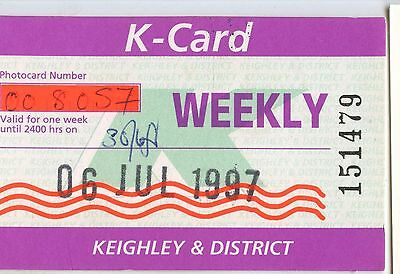 Bus Ticket; Keighley & District K card 1997