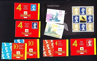 Gb Collection Of Booklets & Booklet Pane With Stamps Face Value £30