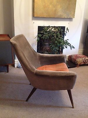 Mid-century atomic lounge chair Howard Keith style 1950's