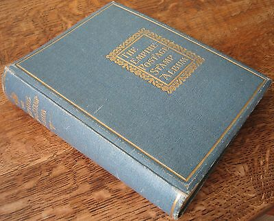 Old Empire postage stamp album dated 1910 with over 1300 stamps