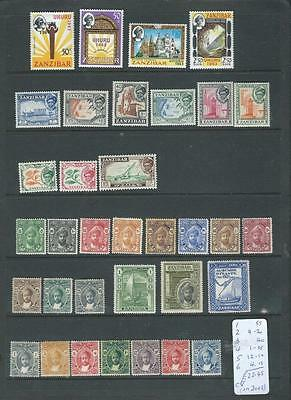Zanzibar lot 2, nice sets LHM stamps as scanned CV 22GBP in 2008[177]