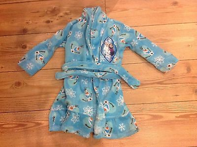 Girls Frozen dressing gown, night gown Bath Robe - age 4