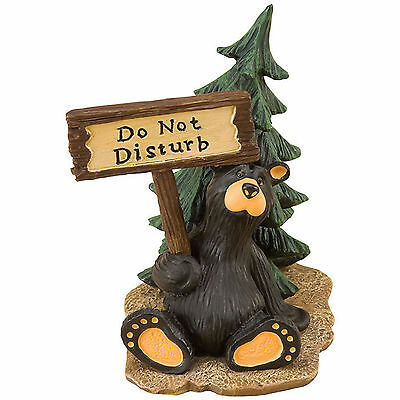 Bearfoots Whimsical Do Not Disturb Bear Mini Figurine