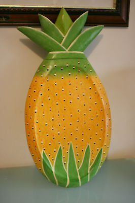 "Large Pineapple Bread/Chopping/Display Board 23 1/2"" (60cm) Tall."