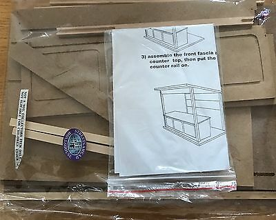 Market Stall Kit: Dolls House Miniature 1.12 Scale Flat Packed