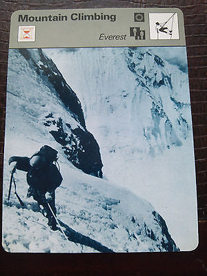 MOUNTAINEERING MOUNT EVEREST Sportscaster Rencontre Photo Fact Card  - Rare