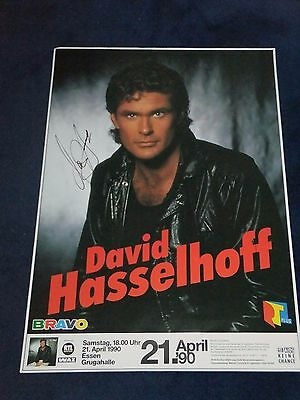 David Hasselhoff Signed Poster