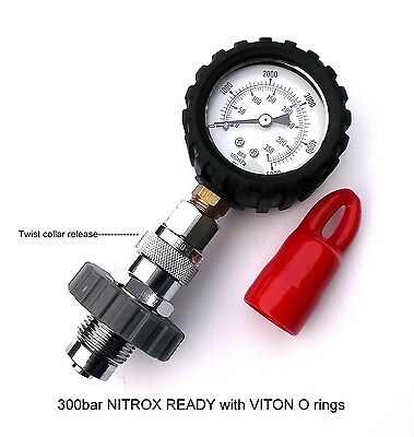 DIN 350 tank pressure tester.Very high quality marine brass/chrome twist release
