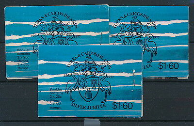 [74849] Turks & Caicos Islands 3x good complete booklet Very Fine MNH