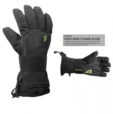 Demon Mens Snowboard Gloves With Wristguard Cinch NEW