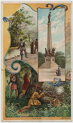 Indiana - A Pictorial History - Arbuckles' Coffee - Victorian Trade Card