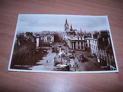 UNION STREET ABERDEEN OLD (RP) POSTCARD NUMBERED & UNPOSTED b&w GOOD CONDITION..