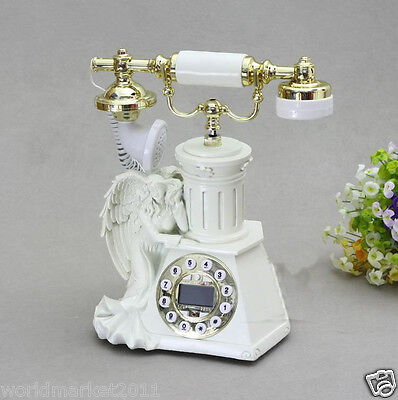 New European Style High Grade Resin Angel Antique Ancient Dial Telephone.