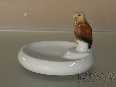 Ens Volkstedt Germany Porcelain Hawk Bird Mounted Pin Dish